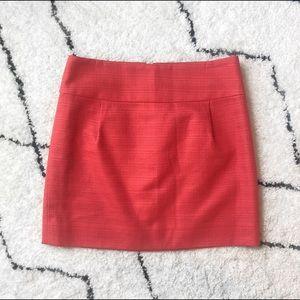 J. Crew Coral Mini Skirt